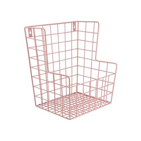Decorative Wall Hanging Toy Storage Basket Pink - Pillowfort™ - image 1 of 2