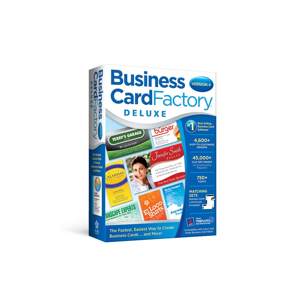 Avanquest Business Card Factory Deluxe 4 0 Pc Digital