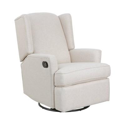 Karla Dubois Hemingway Swivel Accent Chair - Canvas