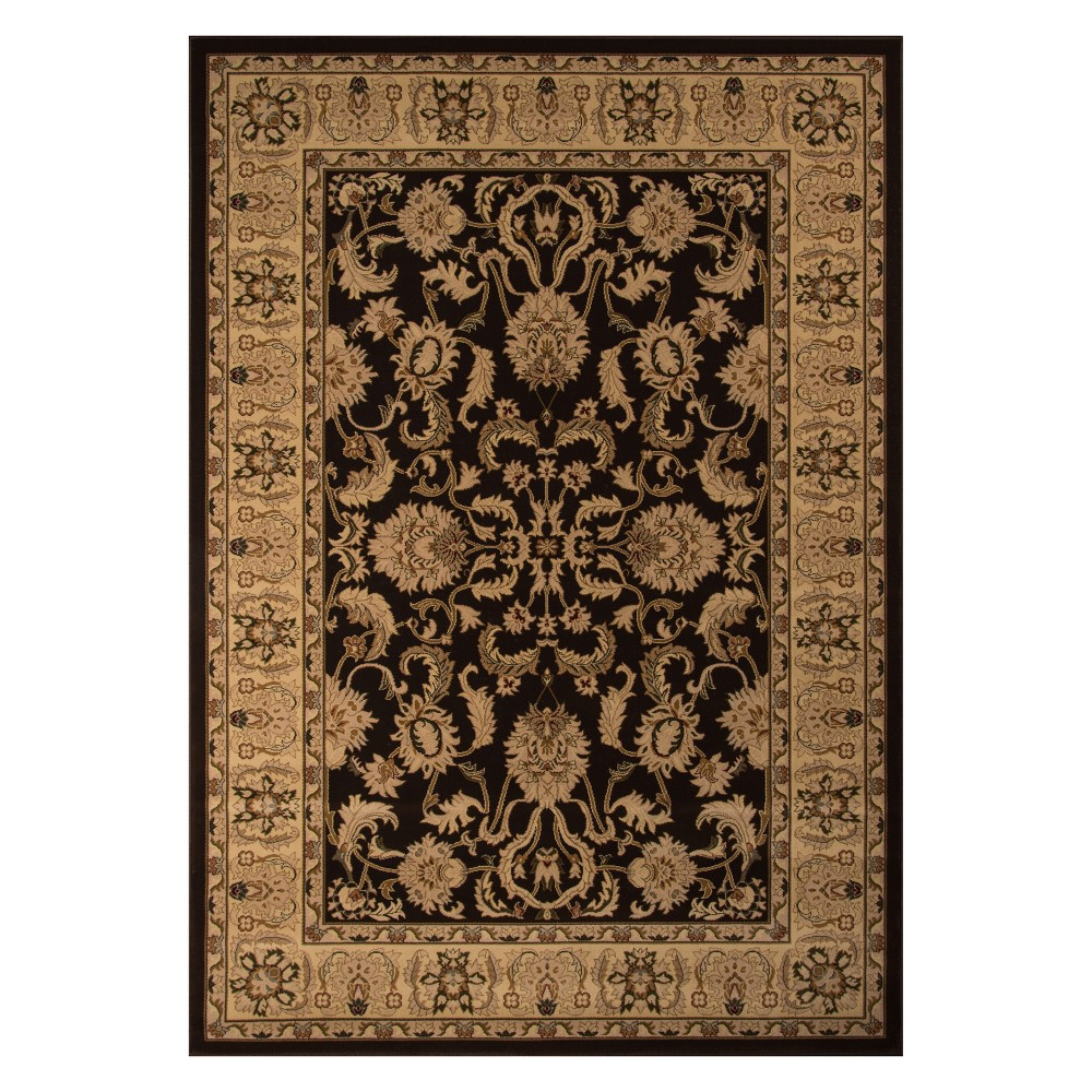 3'3X5' Floral Loomed Accent Rug Brown - Momeni