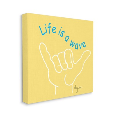 Stupell Industries Life's a Wave Phrase Surf's Up Hand Sign