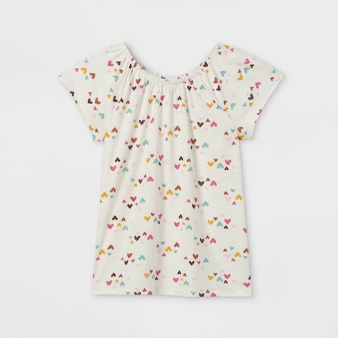 Girls' Short Sleeve Knit Top - Cat & Jack™ - image 1 of 2
