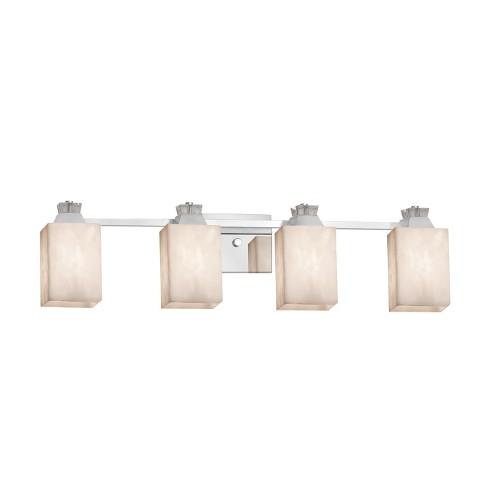 "Justice Design Group CLD-8474-15 Clouds 4 Light 33"" Wide Bathroom Vanity Light - image 1 of 1"
