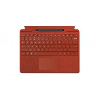 Microsoft Surface Pro X Signature Keyboard Poppy Red with Slim Pen - Full mechanical keyset - Surface Pro X Slim Pen included