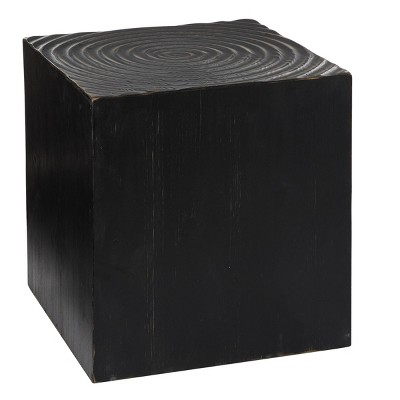 Rustic Wood Accent Table Black - Olivia & May