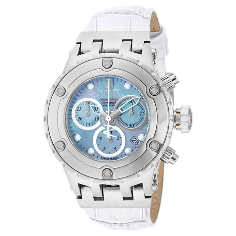 Women s Invicta 14607 Jason Taylor Quartz 3 Hand Platinum Dial Strap Watch  - Silver   Target 249068199b