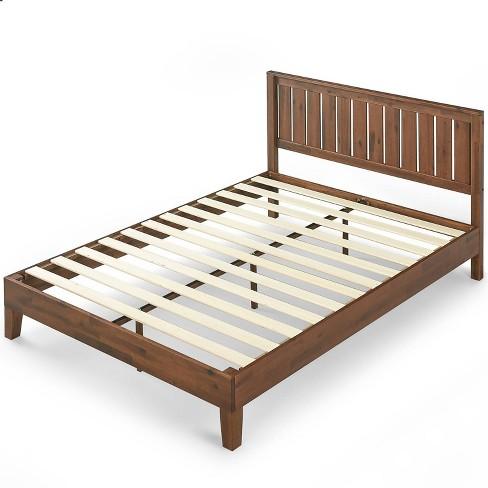 Vivek Deluxe Wood Platform Bed with Headboard - Zinus - image 1 of 4