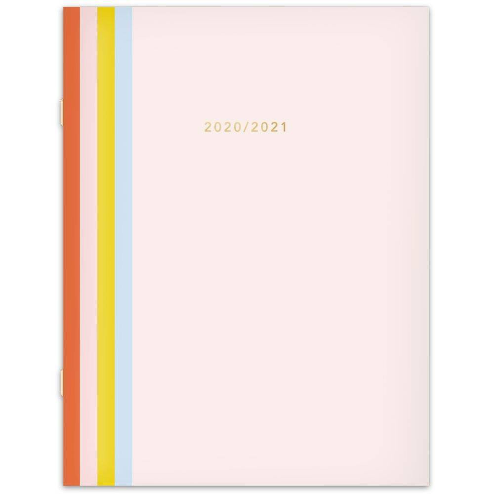 "Image of ""2020-21 Academic Planner 8.5"""" x 11"""" Striped Spine Pink - Knot + Bow"""