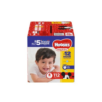 Huggies Snug & Dry Diapers Super Pack - Size 4 (112ct)