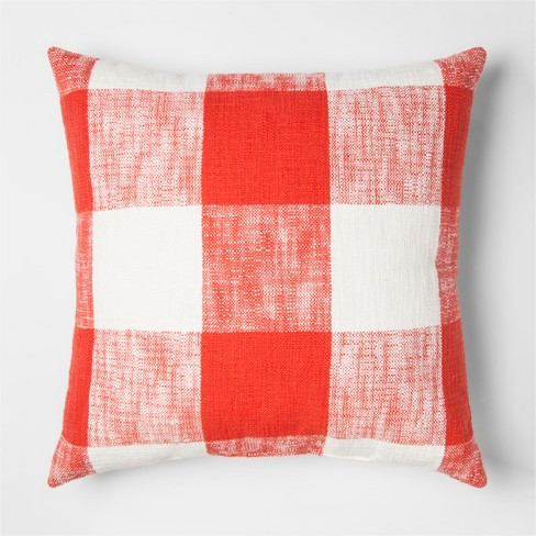 Square Gingham Pillow - Threshold™ - image 1 of 1