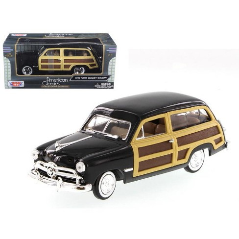 1949 Ford Woody Wagon Black 1/24 Diecast Model Car by Motormax - image 1 of 1
