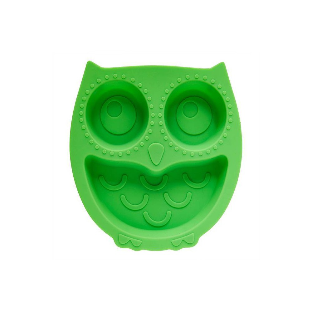 "Promos 8.8"" x 8.3"" Silicone Owl Divided Suction Plate  - Brinware"
