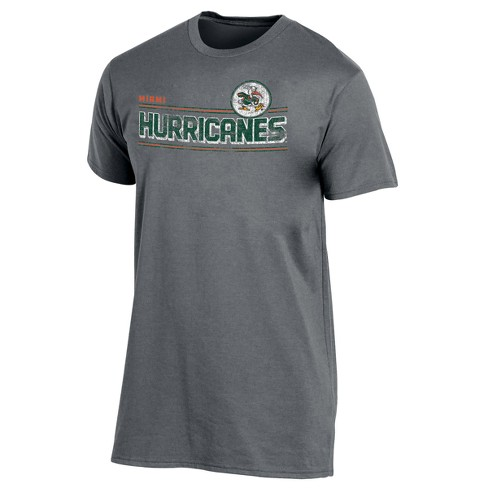 Miami Hurricanes Men's Keep the Lights On Bi-Blend Gray Heathered T-Shirt - image 1 of 2
