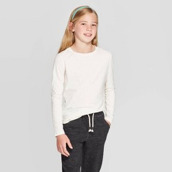 Girls' Long Sleeve Sparkle T-Shirt - Cat & Jack™