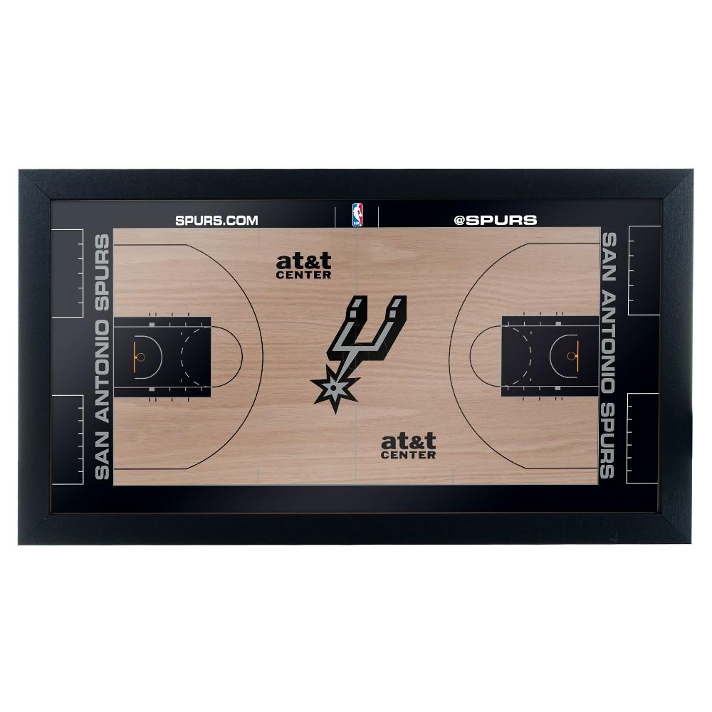 NBA San Antonio Spurs Team Court Framed Plaque