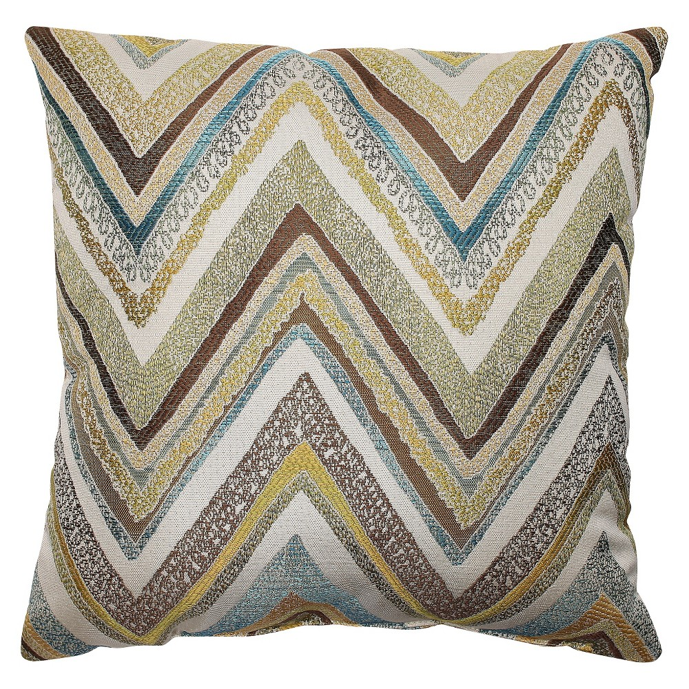 Pillow Perfect Zig Zag Capri Throw Pillow - Blue (16.5