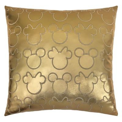 Disney Minnie Mouse 15 x15  Throw Pillow Gold