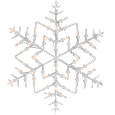 "Northlight 16"" White Lighted Snowflake Christmas Window Silhouette Decoration"