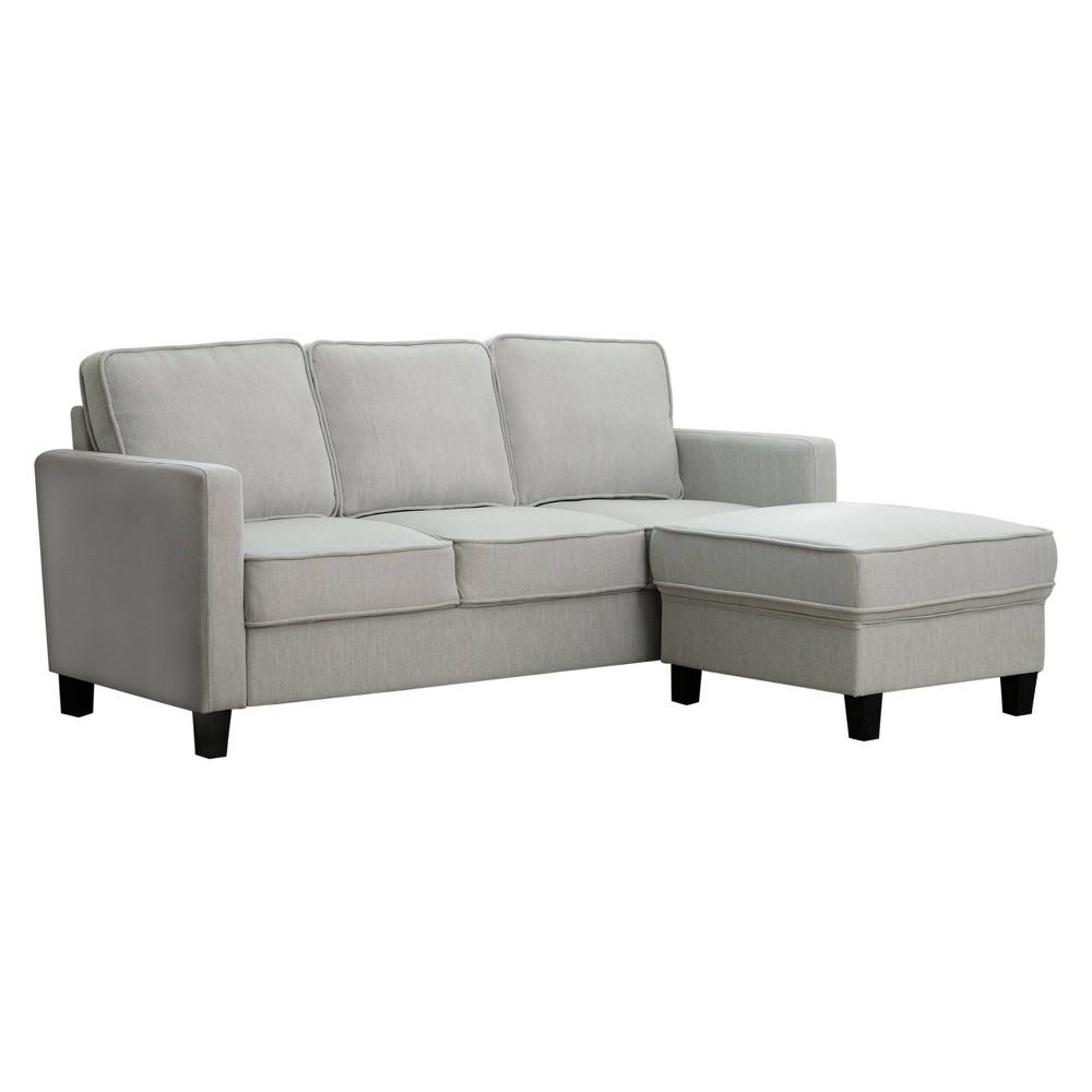 Super Kiara Fabric Sofa Ottoman Set Gray Abbyson Living Squirreltailoven Fun Painted Chair Ideas Images Squirreltailovenorg