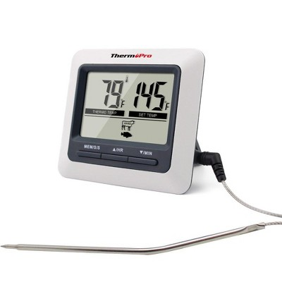 ThermoPro TP-04 Large LCD Kitchen Digital Cooking Meat Thermometer for BBQ Grill Oven Smoker
