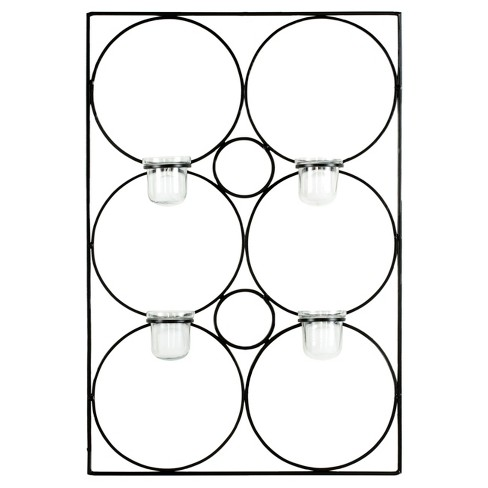 4-Votive Candle Holder Wall Décor Black - Safavieh® - image 1 of 3