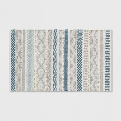 Gray/Blue/Gold Woven Accent Rug 2'6 X4' - Opalhouse™