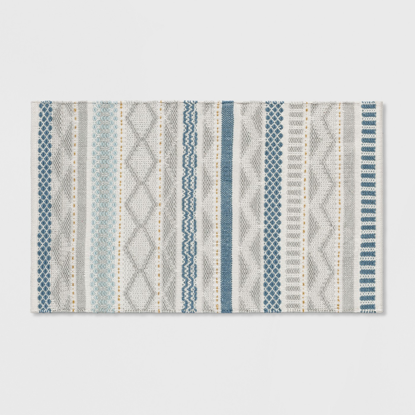 "Gray/Blue/Gold Woven Accent Rug 2'6""X4' - Opalhouse™ - image 1 of 3"