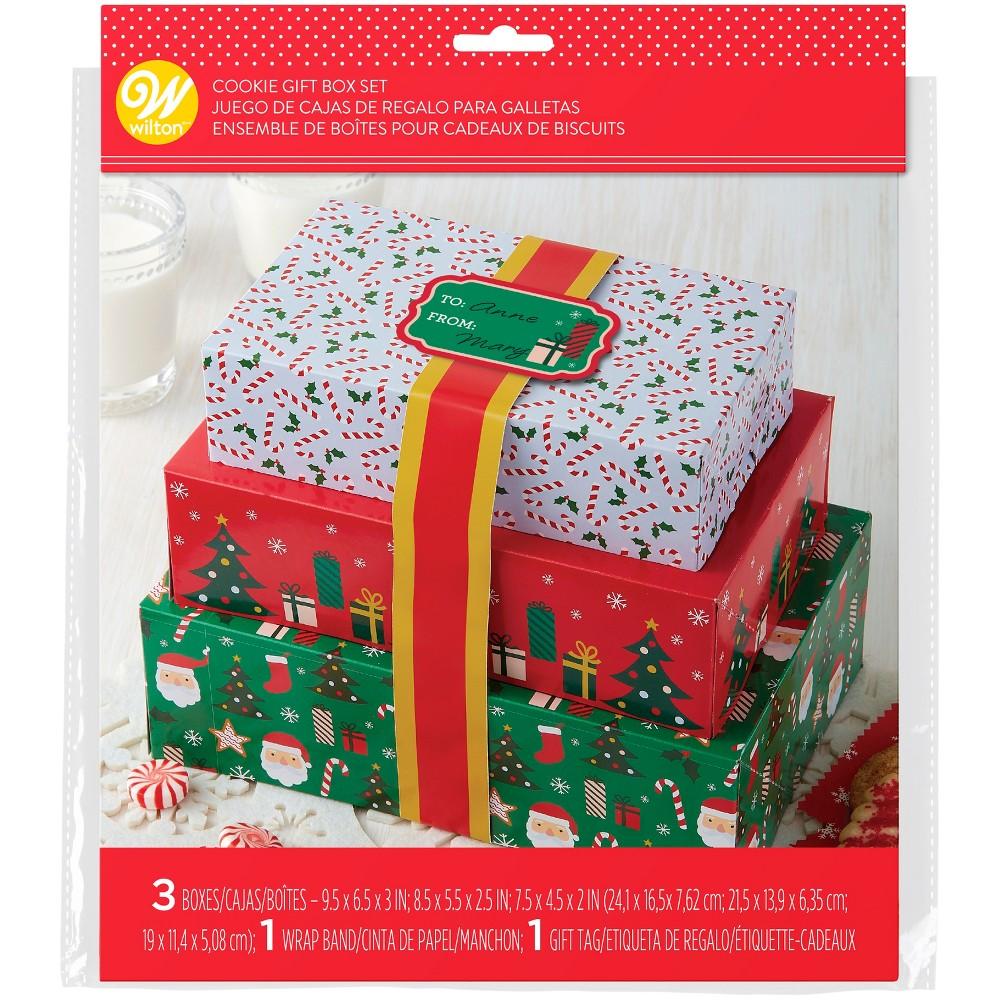 3pk Cookie Gift Box Set - Wilton, Multi-Colored