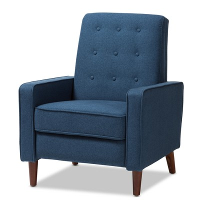 Mathias Mid - Century Modern Fabric Upholstered Lounge Chair - Baxton Studio