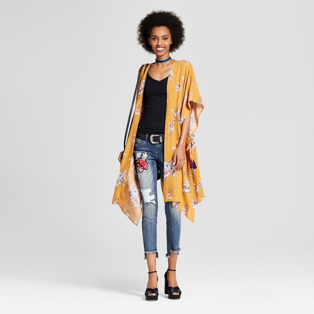 Women's Tassel Duster Kimono - Xhilaration (Juniors') Gold XS/S, Size: Xss