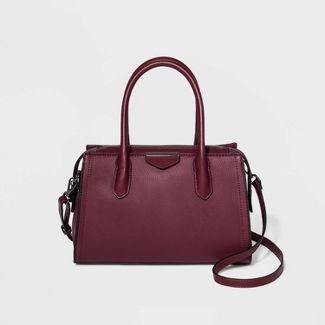 Zip Closure Satchel Handbag - A New Day™ Burgundy