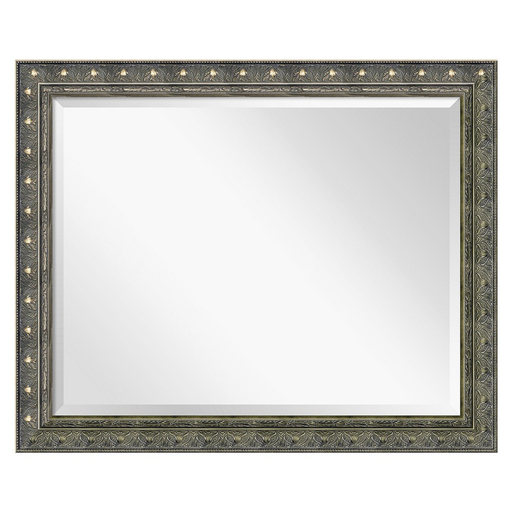 Image of Rectangle Barcelona Decorative Wall Mirror Brown - Amanti Art, Cappuccino