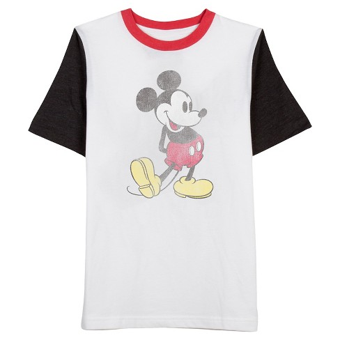 Men's Mickey Colorblock T-Shirt White - image 1 of 1