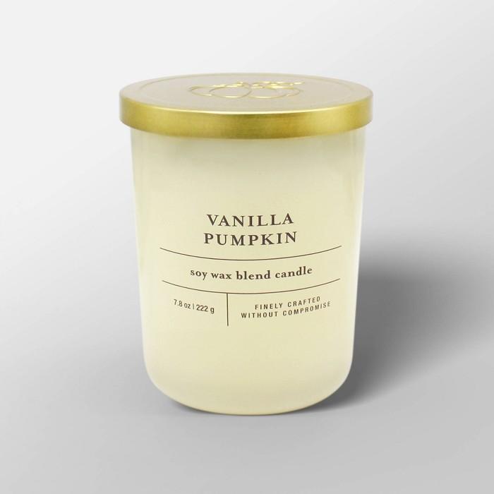 7.8oz Glass Jar Candle Vanilla Pumpkin - Threshold™ - image 1 of 2