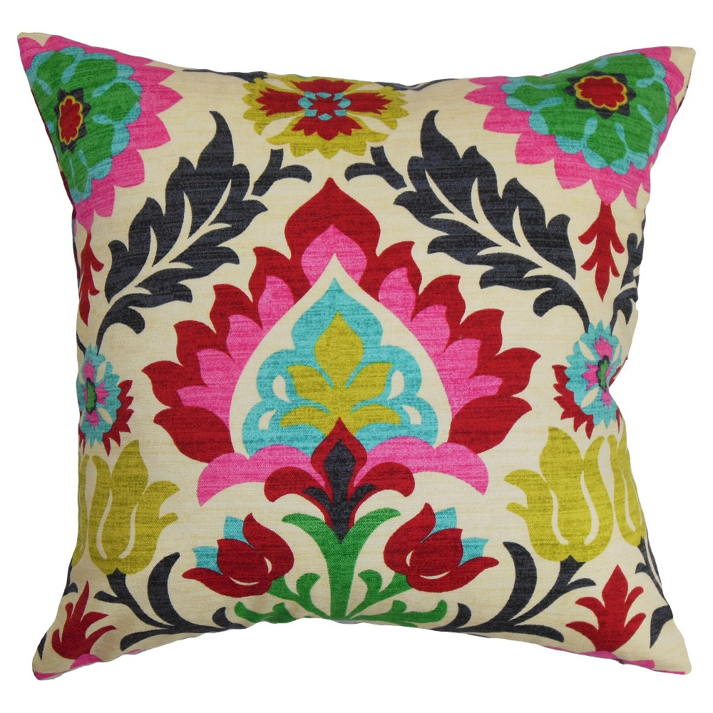 "Image of ""Boho Throw Pillow Pink (18""""x18"""") - The Pillow Collection"""