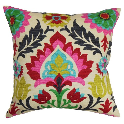 Pink Boho Throw Pillow - The Pillow Collection - image 1 of 2
