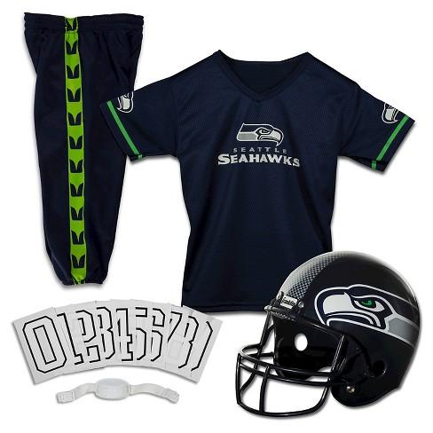 8952d327 Franklin Sports NFL Seattle Seahawks Deluxe Uniform Set