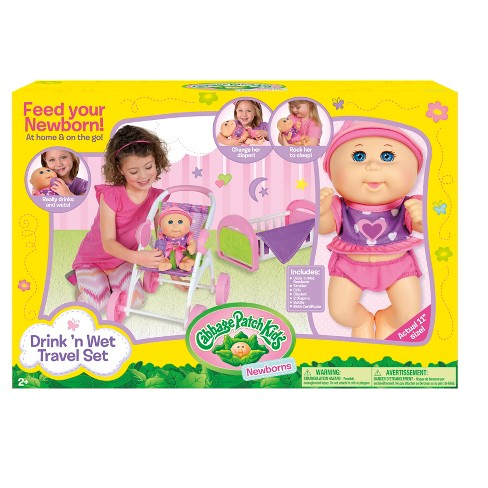 Cabbage Patch Kids Drink n Wet Travel Set - image 1 of 4
