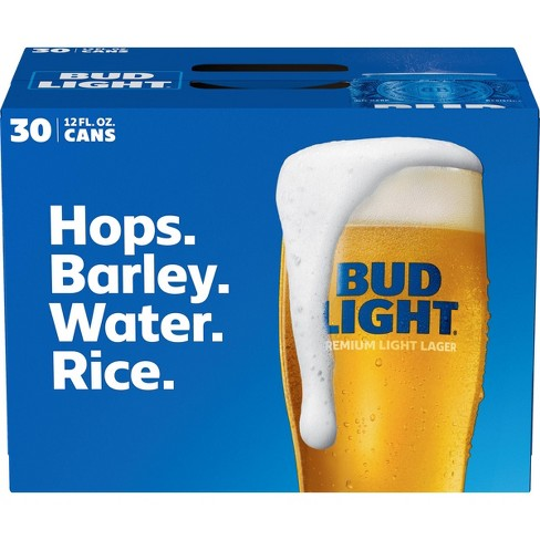 Bud Light Beer - 30pk/12 fl oz Cans - image 1 of 1