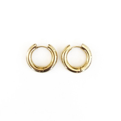 Sanctuary Project Thick Hoop Statement Earrings Gold