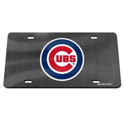 MLB Chicago Cubs Carbon Front Plate - image 1 of 1