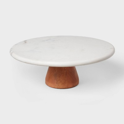 Marble and Wood Cake Stand - Project 62™