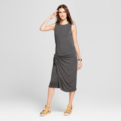af4a1f7287 Women's Sleeveless Asymmetrical Waist Wrap Midi Dress - Alison Andrews