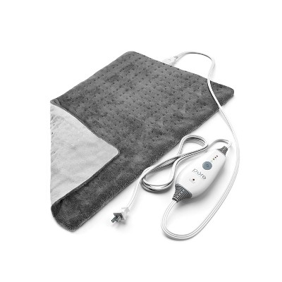 PureRelief Deluxe Gray Heating Pad