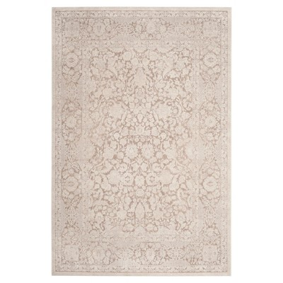 Beige/Cream Floral Loomed Accent Rug 4'X6' - Safavieh