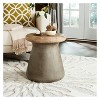Button Round Concrete Accent Table - Dark Gray - Safavieh - image 3 of 4