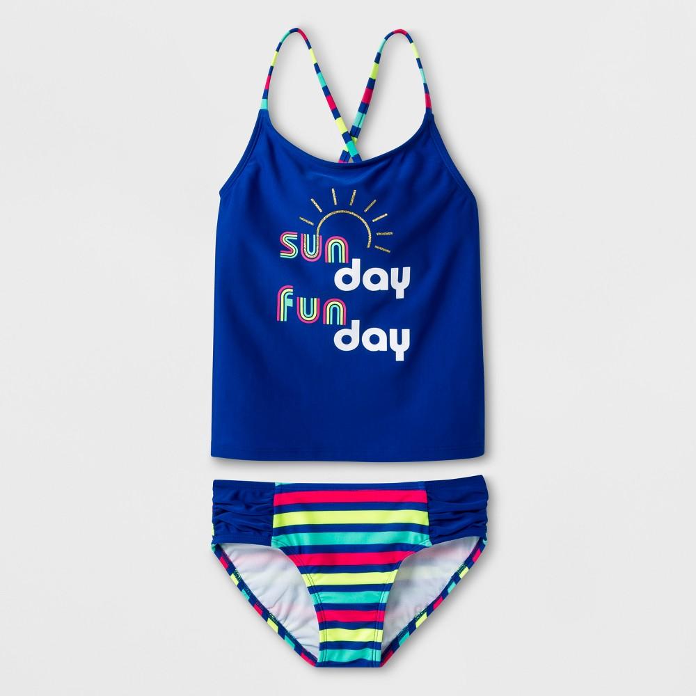 Girls' Sunday Funday Tankini Set - Cat & Jack Blue XL