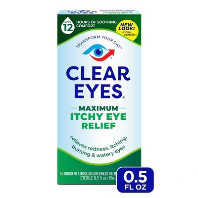 Clear Eyes Maximum Itchy Eye Relief Eye Drops Relieves Itchy Eyes - 0.5 fl oz