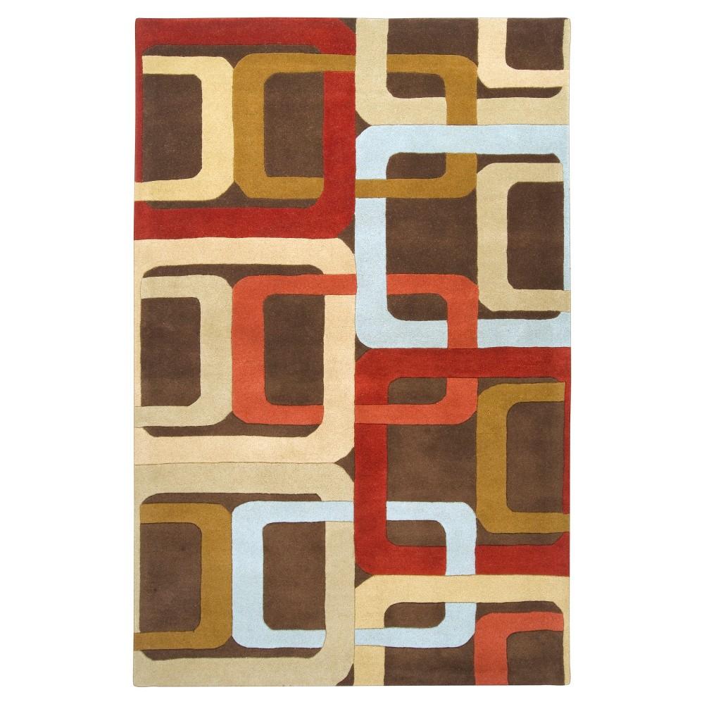 Gärsnäs Area Rug - Rust (Red), Camel - (9' x 12') - Surya