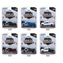 """""""""""""""Dually Drivers"""""""" Series 1, Set of 6 Trucks 1/64 Diecast Model Cars by Greenlight"""""""